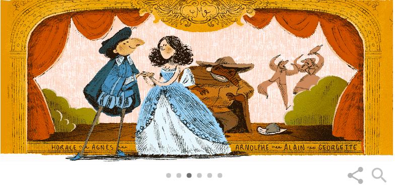 Molière là ai mà được xuất hiện trên Google Doodle hôm nay - Ảnh 1.