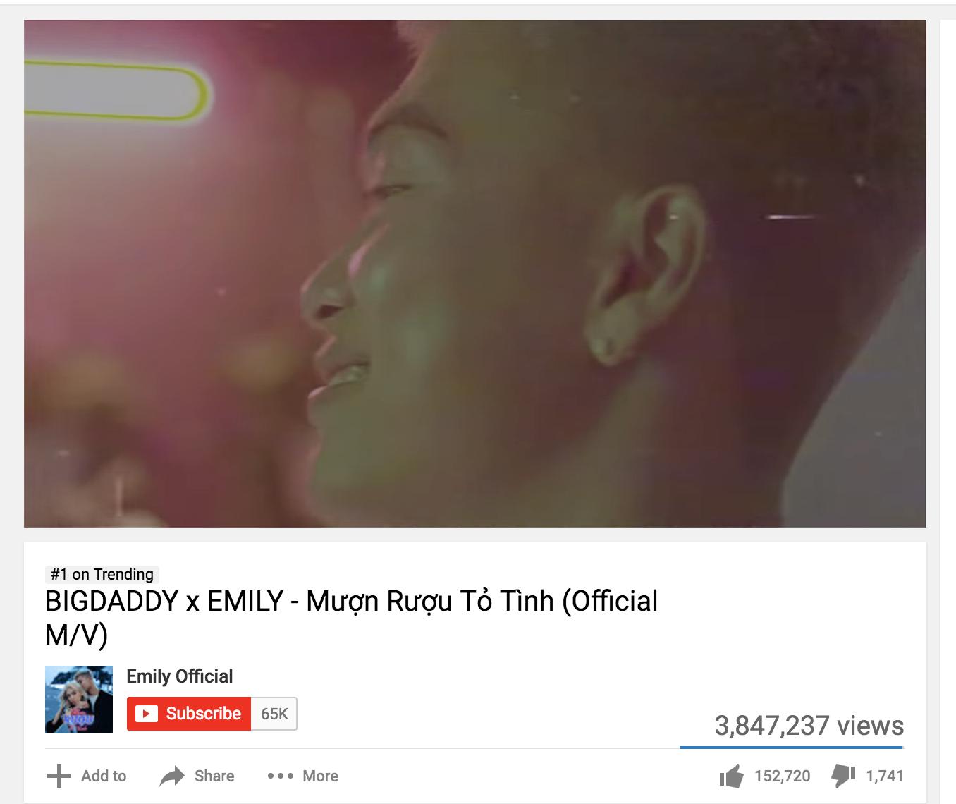 Đạp đất Vpop cực hên: MV của vợ chồng Emily và Big Daddy chính thức xưng vương trending Youtube! - Ảnh 1.