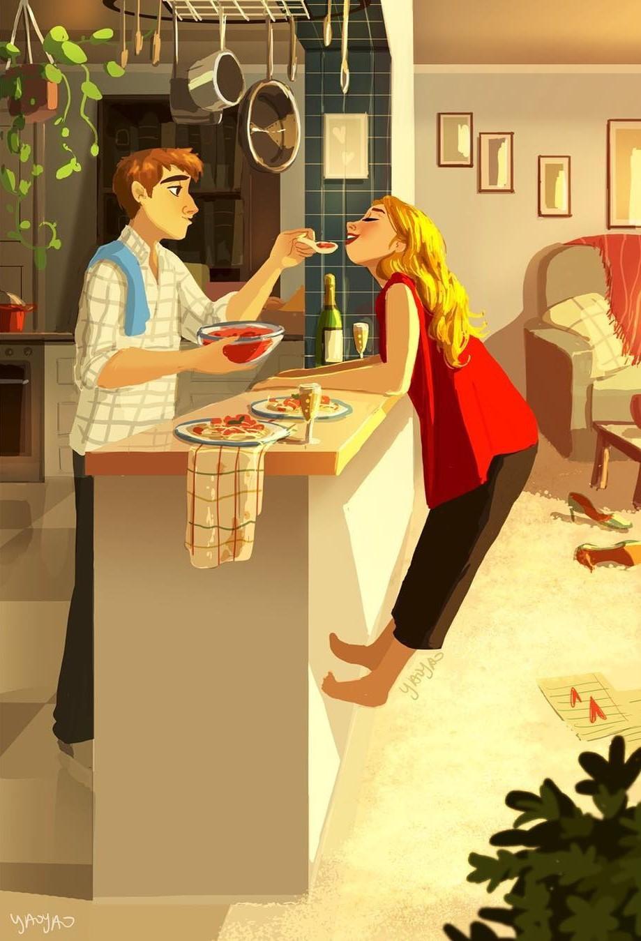 Bộ tranh Tình yêu có màu gì sẽ khiến bạn bất giác mỉm cười vì quá ngọt ngào - Ảnh 3.