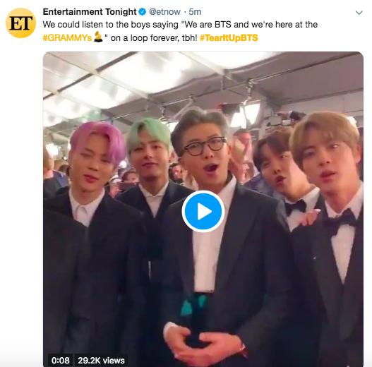 Cả thế giới đang phát cuồng vì BTS tại thảm đỏ Grammy 2019: Siêu bảnh, đẳng cấp, bắn tiếng Anh đầy tự tin - Ảnh 12.