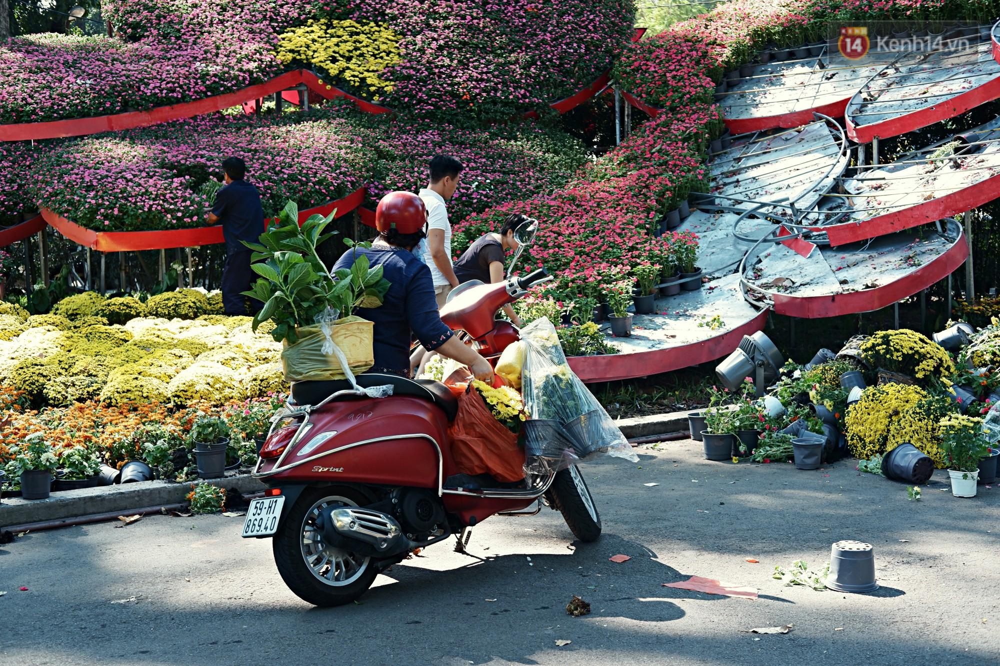 Hội hoa Xuân kết thúc, người dân Sài Gòn hào hứng xin hoa miễn phí về chưng cho đỡ uổng phí - Ảnh 5.