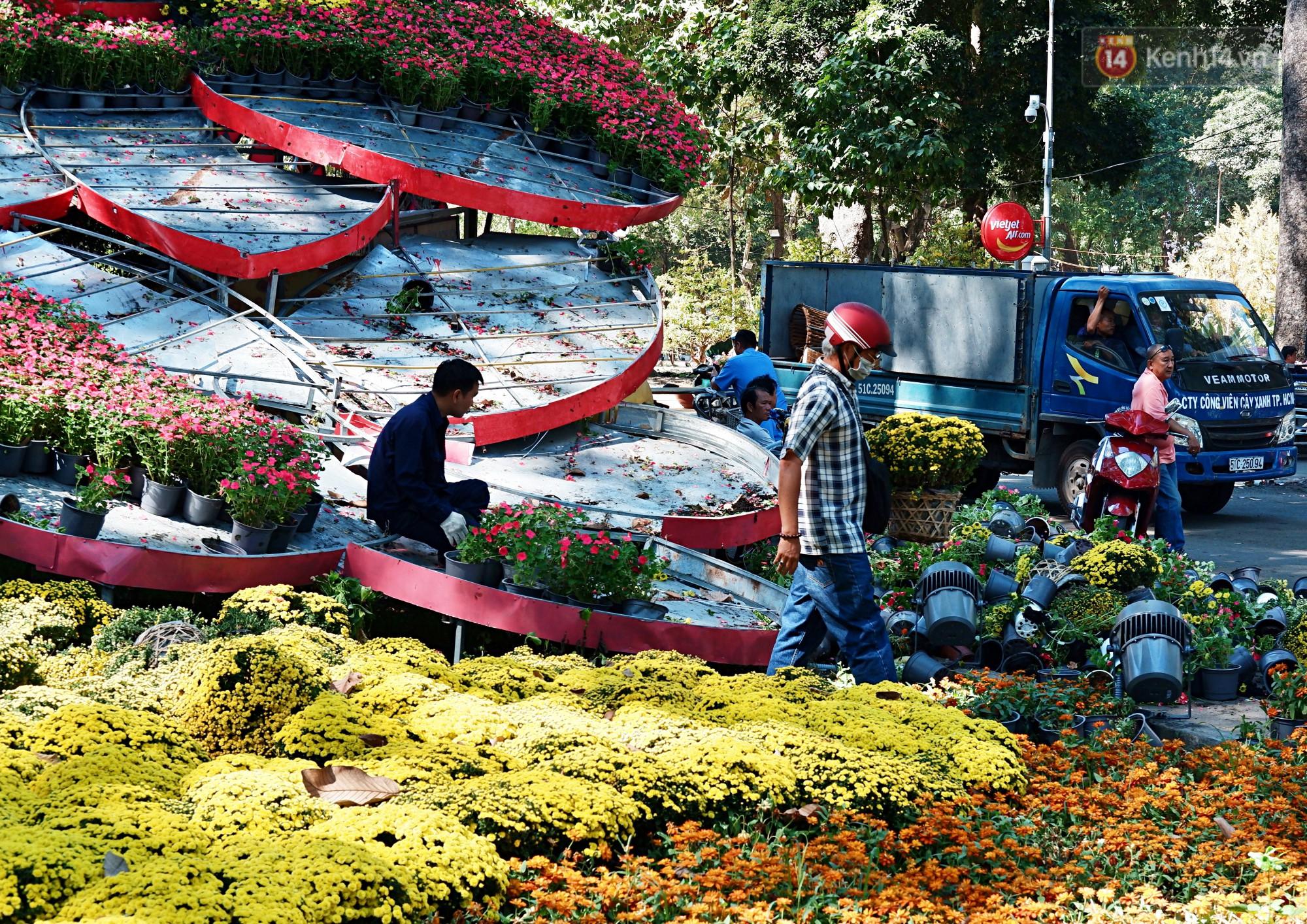 Hội hoa Xuân kết thúc, người dân Sài Gòn hào hứng xin hoa miễn phí về chưng cho đỡ uổng phí - Ảnh 1.