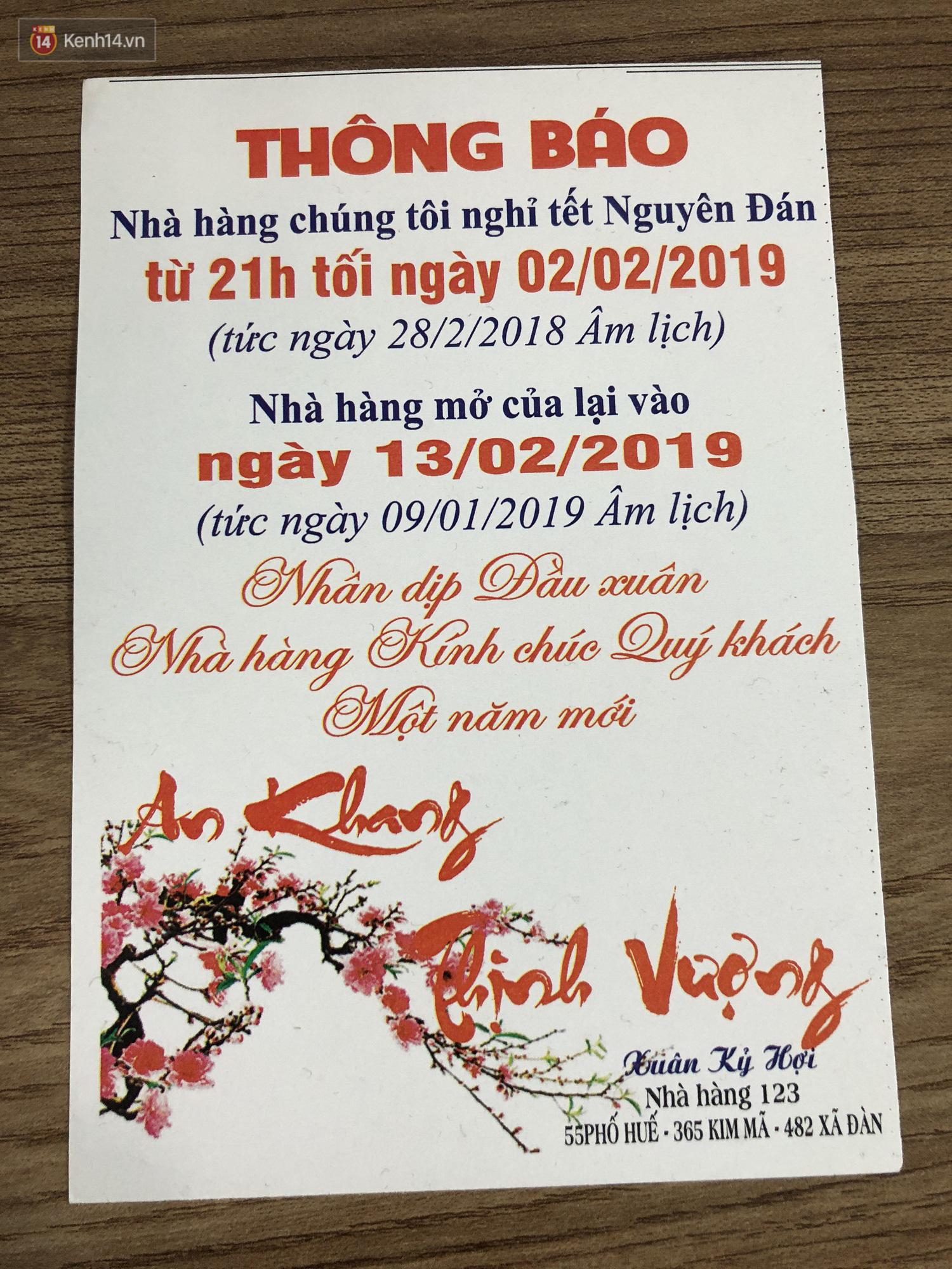 Hết Tết rồi mà vẫn còn nhiều quán xá ở Hà Nội chưa mở bán trở lại, có nơi nghỉ đến tận đầu tháng 3 - Ảnh 7.