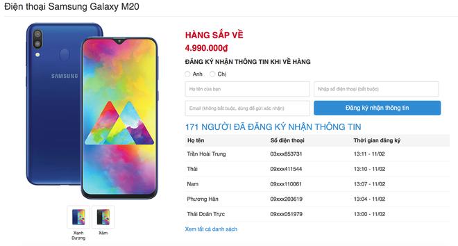 Galaxy M20 lộ giá bán rẻ như Xiaomi tại Việt Nam, bán ra ngay giữa tháng 2 - Ảnh 2.