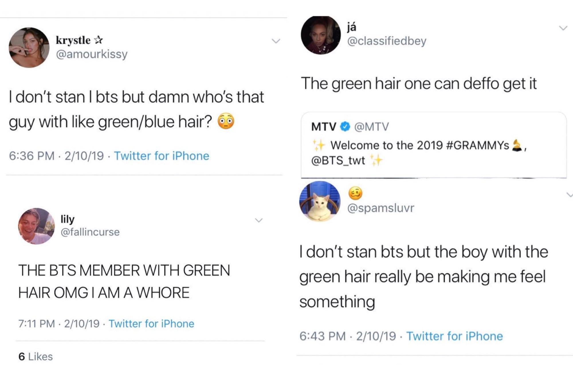 Chùm ảnh: Khoảnh khắc xuất thần của V (BTS) ở Grammy khiến dân tình phải thốt lên Chàng trai với mái tóc xanh lá là ai vậy? - Ảnh 4.