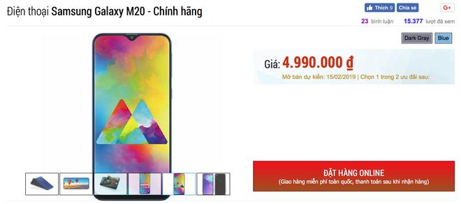 Galaxy M20 lộ giá bán rẻ như Xiaomi tại Việt Nam, bán ra ngay giữa tháng 2 - Ảnh 3.