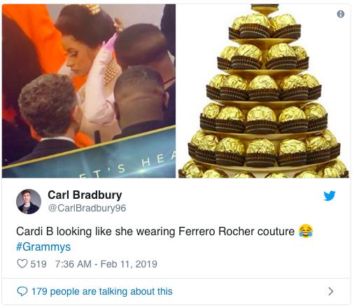 Cosplay nữ thần ngọc trai tại Grammy, Cardi B làm fan thắc mắc: Đây là trái chuối bóc vỏ hay phù thủy bạch tuộc? - Ảnh 4.