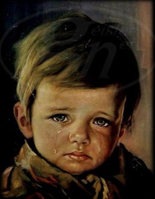 Sự thật về lời nguyền bí ẩn của bức tranh Cậu bé khóc trong hàng loạt vụ hỏa hoạn khiến nhiều người phải rùng mình - Ảnh 1.