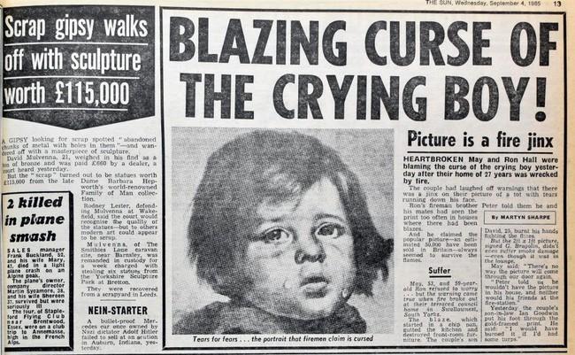 Sự thật về lời nguyền bí ẩn của bức tranh Cậu bé khóc trong hàng loạt vụ hỏa hoạn khiến nhiều người phải rùng mình - Ảnh 2.