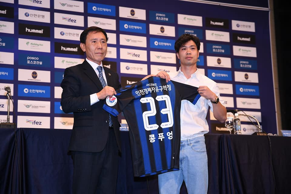 Công Phượng sẽ khoác áo số 23 tại Incheon United. Ảnh: Incheon United.
