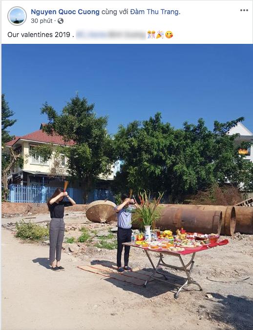 Vợ chồng Cường Đô La - Đàm Thu Trang khởi công xây nhà đúng ngày tình nhân, chuẩn bị sẵn sàng cho đám cưới - Ảnh 1.