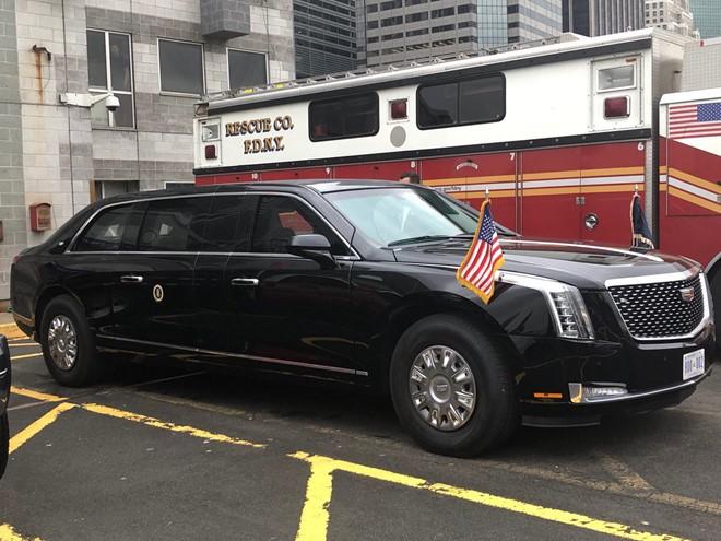 Chiếc xe Quái thú 2.0 luôn đi theo tổng thống Trump trong các chuyến công du khắp thế giới - Ảnh 2.