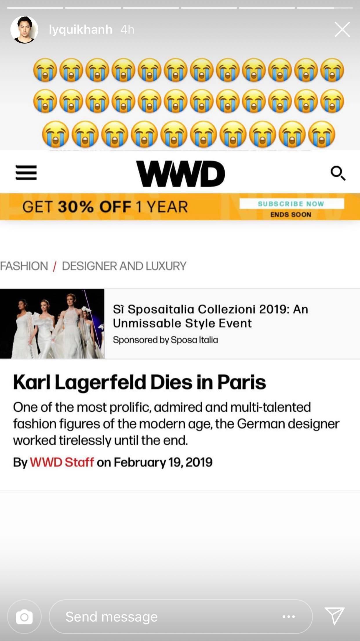 Hoa hậu Mai Phương Thuý, Á hậu Phương Nga và nhiều NTK, stylist thương tiếc trước sự ra đi của huyền thoại thời trang Karl Lagerfeld - Ảnh 6.