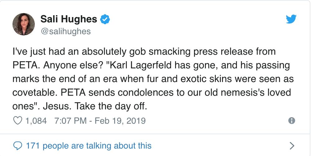 Karl Lagerfeld vừa ra đi, PETA đã có phát ngôn máu lạnh và sặc mùi mỉa mai - Ảnh 6.