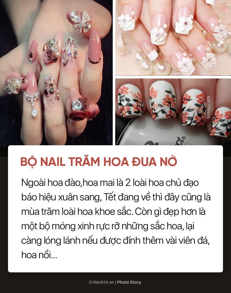 Những mẫu nail xinh bạn có thể thử trong dịp Tết này - Ảnh 3.