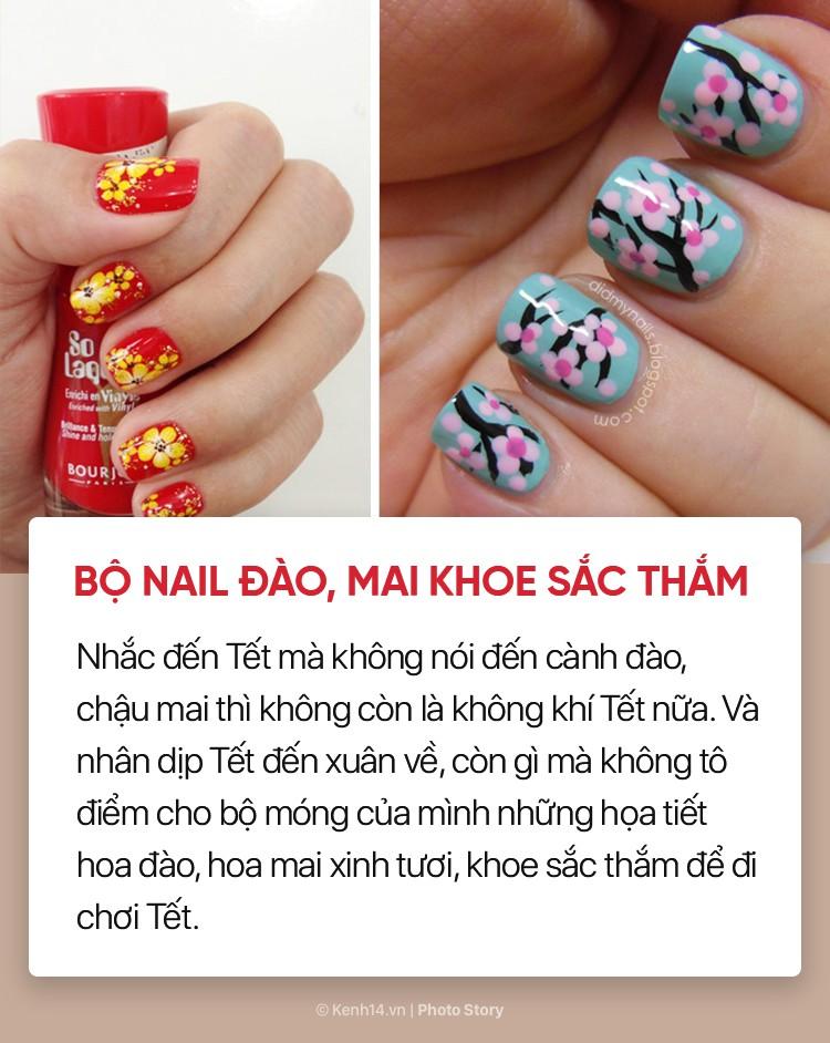 Những mẫu nail xinh bạn có thể thử trong dịp Tết này - Ảnh 5.