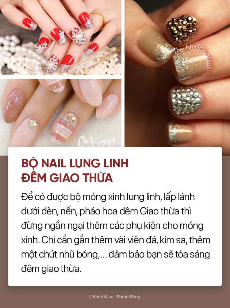 Những mẫu nail xinh bạn có thể thử trong dịp Tết này - Ảnh 9.