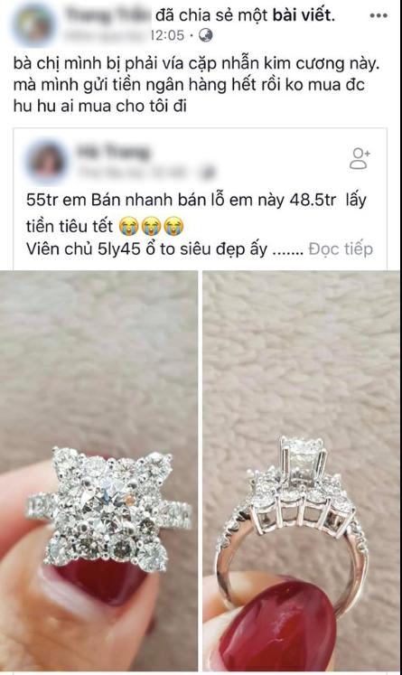 Khoe nhẫn kim cương 500 triệu chồng tặng khiến dân mạng lác mắt, Hồng Quế lại bị tố chôm ảnh trên mạng - Ảnh 2.