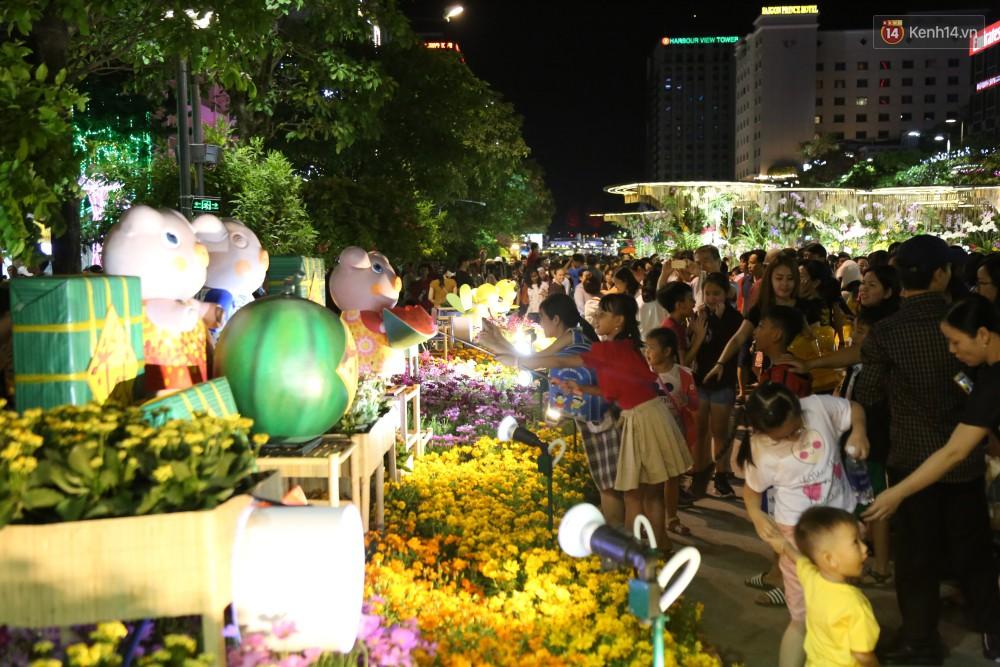 Đường hoa Nguyễn Huệ rực rỡ trong đêm khai mạc, hàng ngàn người chen nhau vào du xuân - Ảnh 11.
