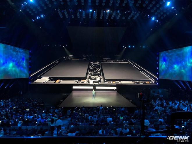 Samsung giới thiệu smartphone mở ra gập vào như cuốn sổ, 6 camera, 2 cục pin, giá 2 nghìn đô - Ảnh 4.