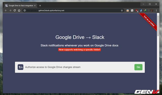 5.Google Drive to Slack- Nhận thông báo trong Slack và ngược lại