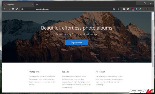 Lightbox- Quản lý và trình diễn ảnh từ Google Drive Photos