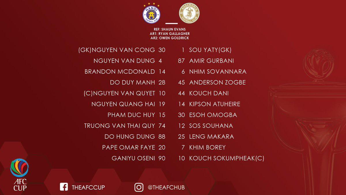 CLB Hà Nội 10-0 Naga World: Trút cơn mưa bàn thắng, CLB Hà Nội đánh bại đối thủ bằng kết quả khó tin - Ảnh 2.