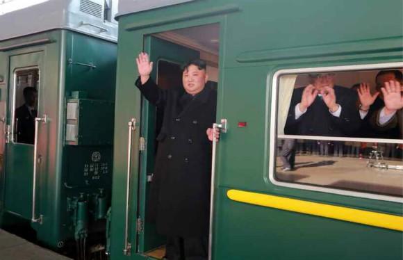 Ông Kim Jong Un bắt đầu chuyến đi tới Việt Nam dự thượng đỉnh lần 2. Ảnh: KCNA