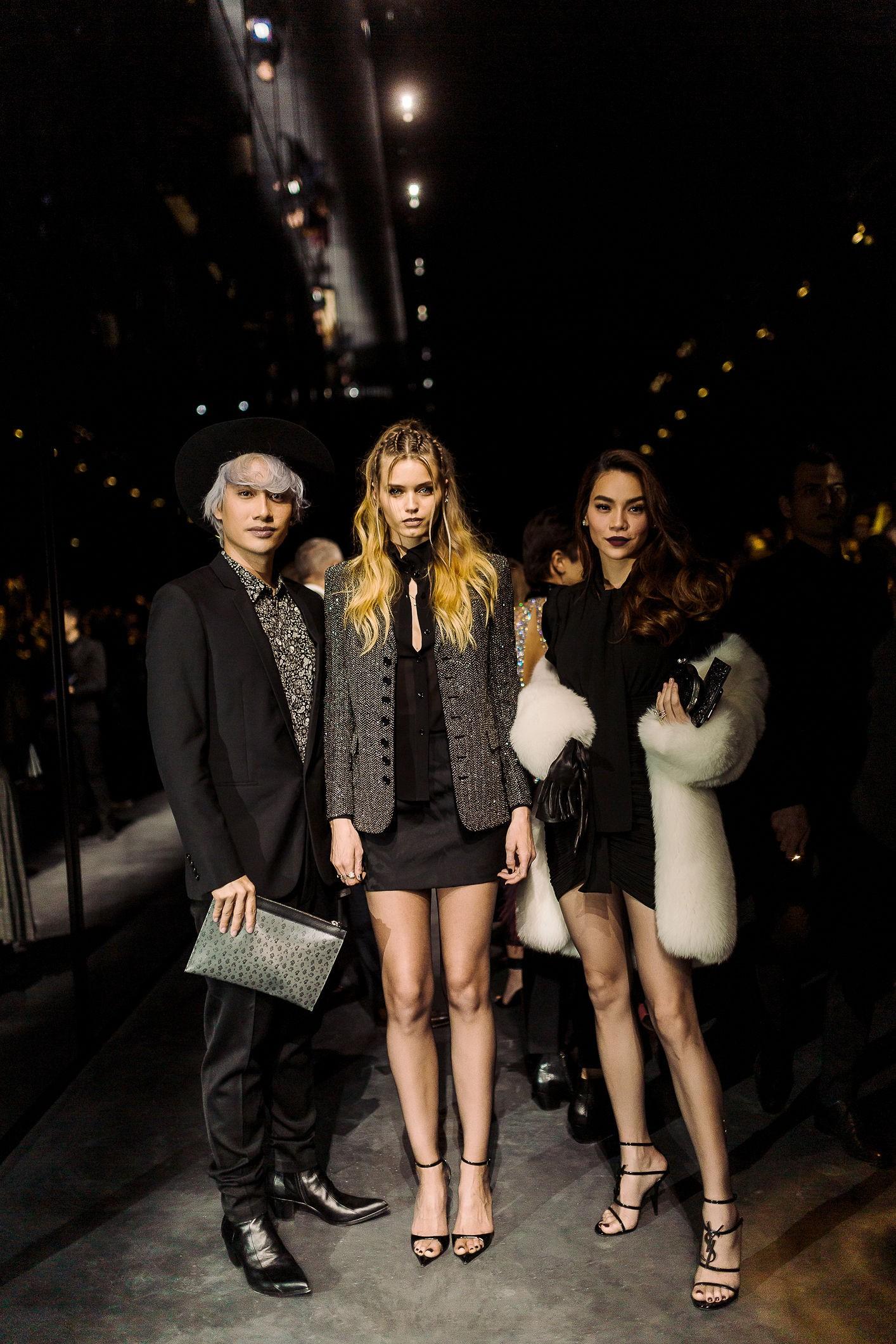 Hà Hồ diện áo lông 300 triệu, sánh đôi cùng Lý Quí Khánh đi dự show Saint Laurent tại Paris Fashion Week - Ảnh 4.
