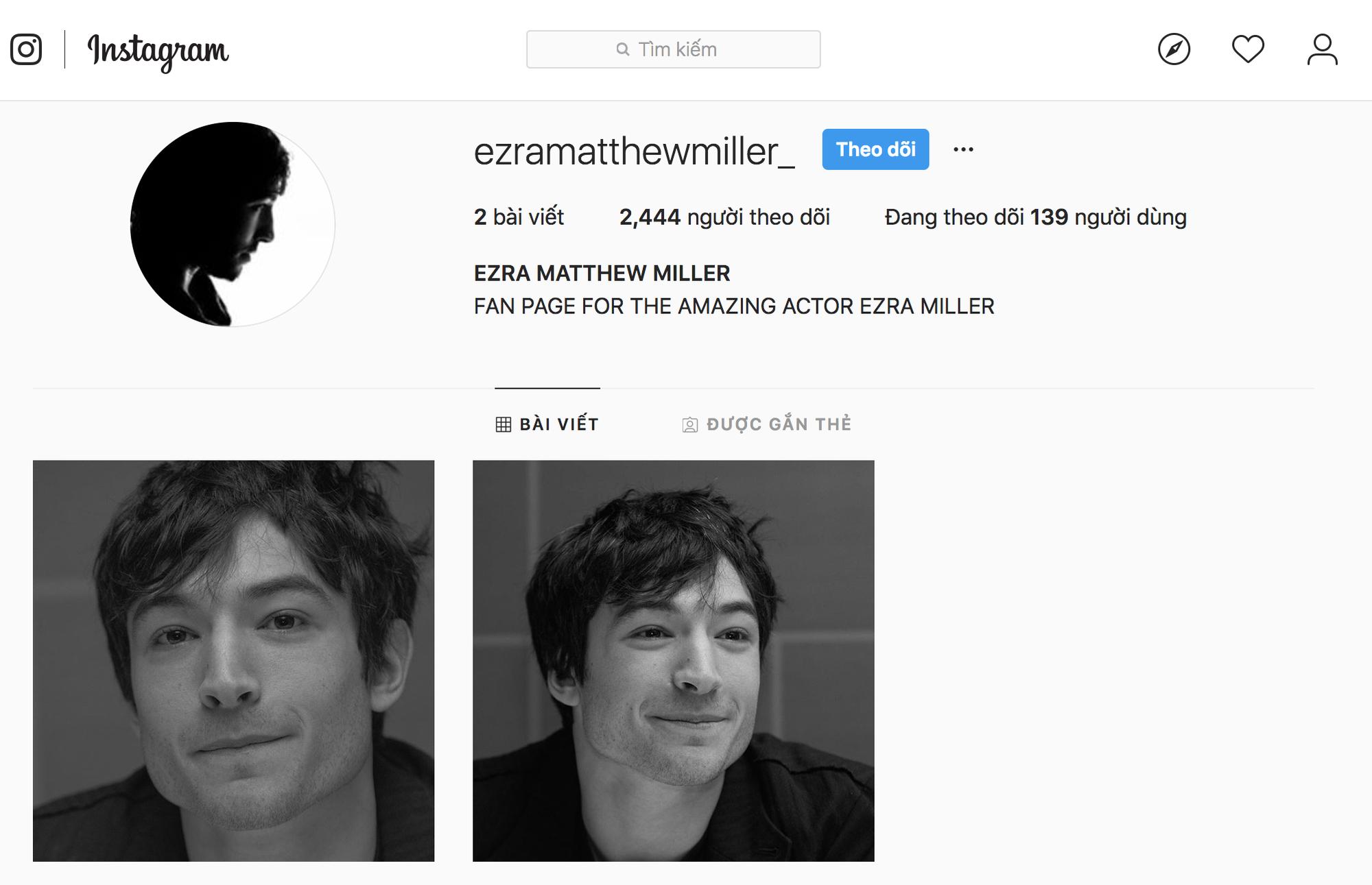 Hồ Ngọc Hà chụp hình với nam diễn viên Ezra Miller nhưng rất tiếc chị lại tag sai instagram của chính chủ rồi - Ảnh 3.