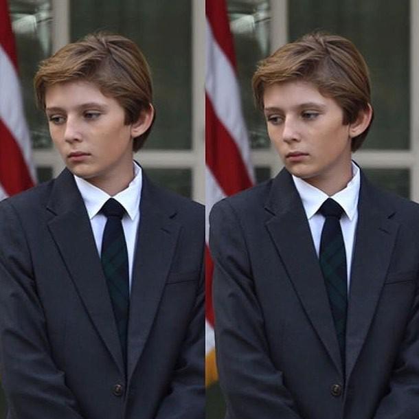 """Đã đẹp trai còn hay mặc suit, hèn gì cậu út nhà Trump đang là """"nam thần"""" được cả thế giới quan tâm - Ảnh 4."""