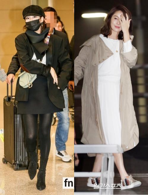 """Suzy đọ sắc """"mẹ Kim Tan"""" tại sân bay: Bên kín cổng cao tường vẫn khoe chân cực phẩm, bên """"hack tuổi"""" khó tin"""