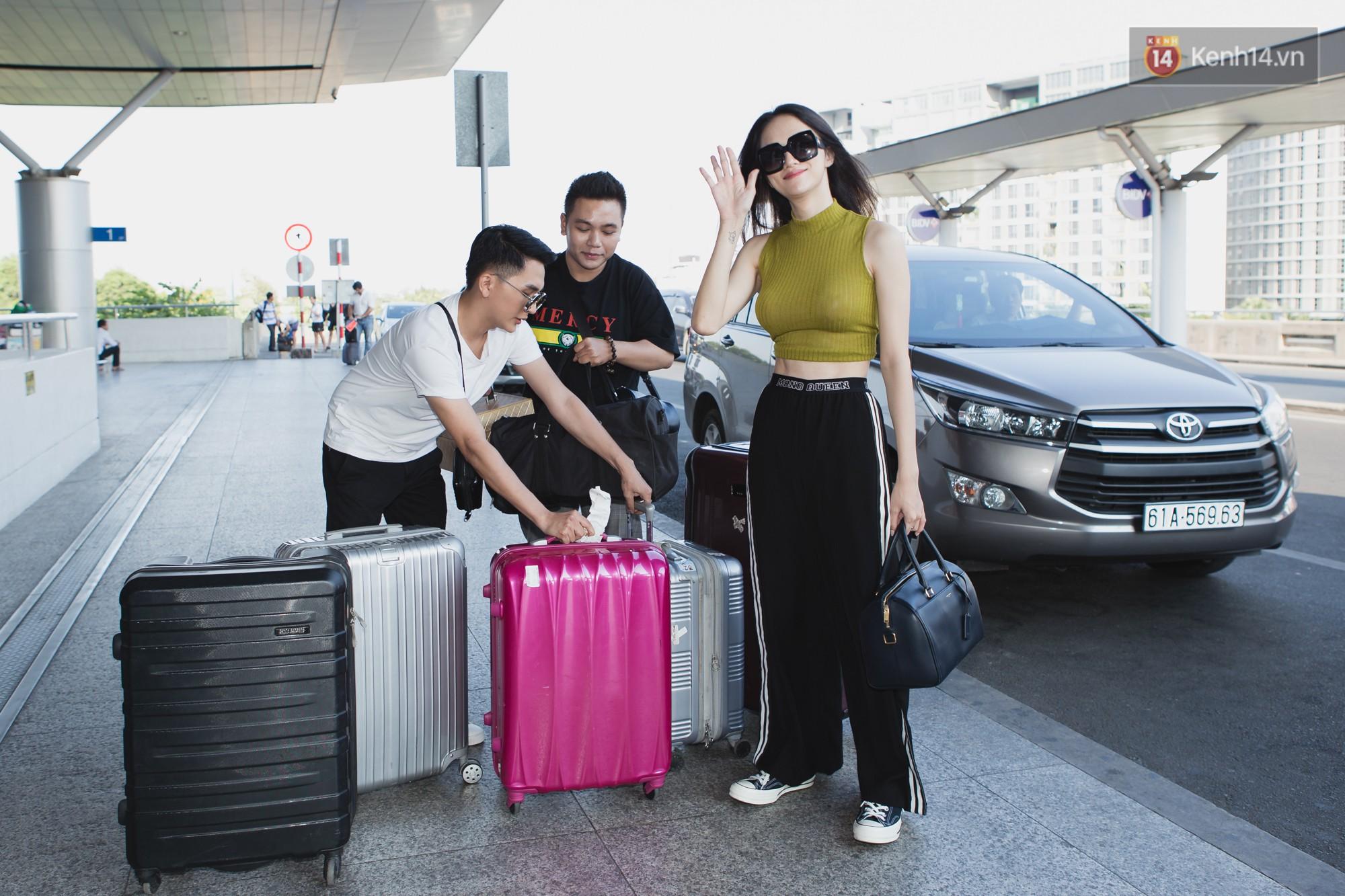 Hương Giang lên đường sang Thái trao lại vương miện Hoa hậu, vòng một được chú ý vì quá khủng - Ảnh 9.