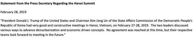 Nóng: Ông Trump và ông Kim Jong-un không đạt được thỏa thuận nào tại thượng đỉnh Mỹ - Triều - Ảnh 1.