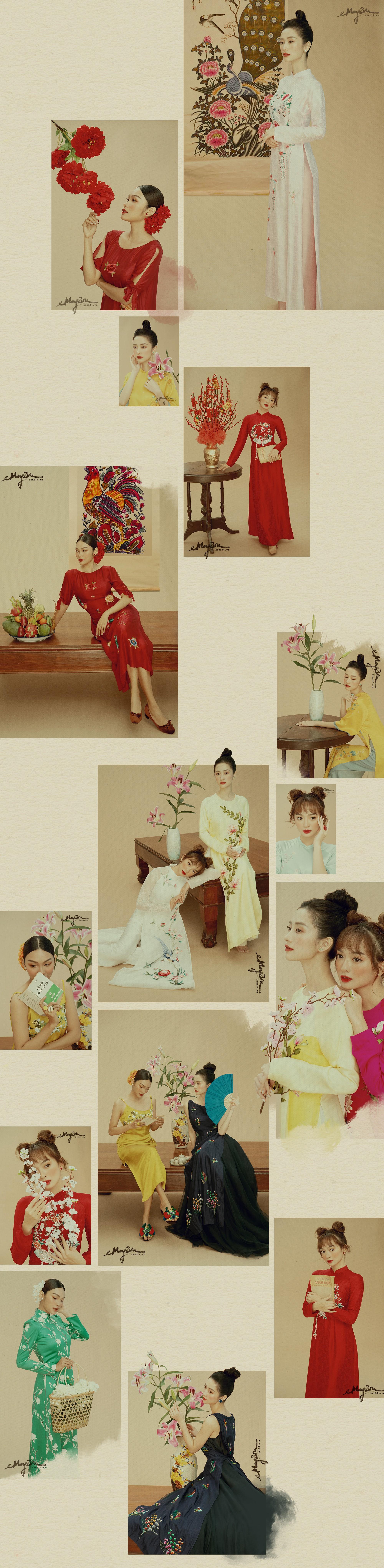 3 ngọc nữ mới của showbiz Jun Vũ, Kaity, Thanh Tú khoe vẻ đẹp thanh xuân trong bộ ảnh áo dài đầu năm - Ảnh 2.