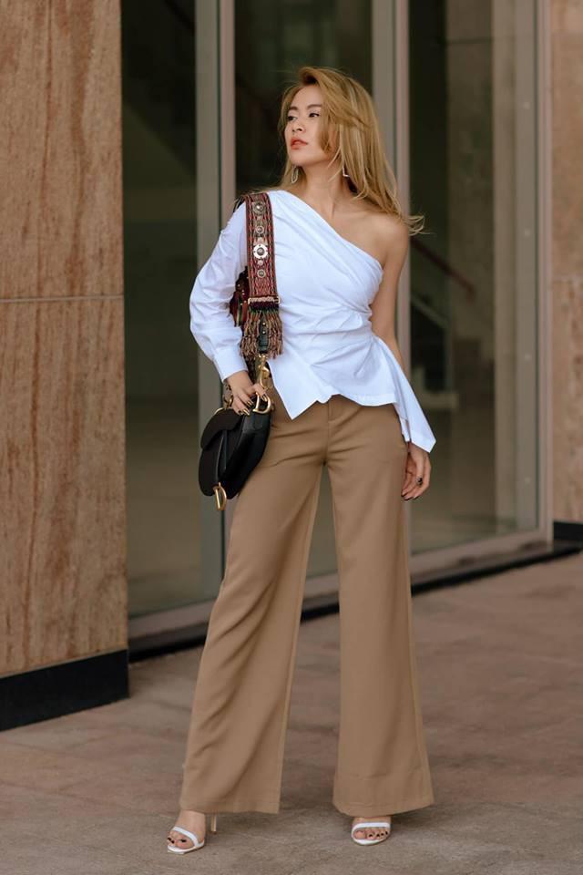 Street style cận Tết của sao Việt: Hà Hồ diện toàn màu chóe, Đàm Thu Trang cực giản dị trong bộ đồ sắc nâu - Ảnh 9.