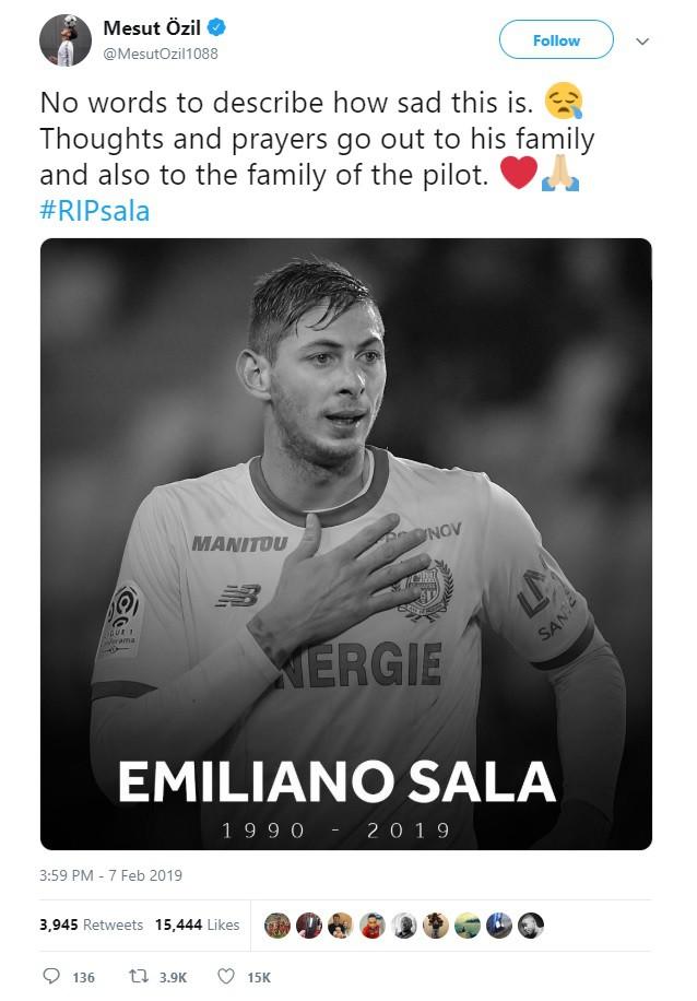 Dàn sao nổi tiếng thế giới bóng đá khóc thương cho số phận bi thảm của Sala, tiền đạo tử nạn sau vụ rơi máy bay bí ẩn - Ảnh 3.