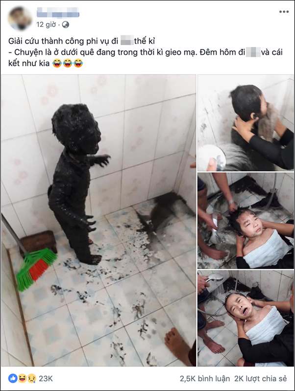 Trốn mẹ đi chơi sau giờ học, cậu học sinh tiểu học ngã xuống ao, toàn thân được tắm bùn miễn phí - Ảnh 4.