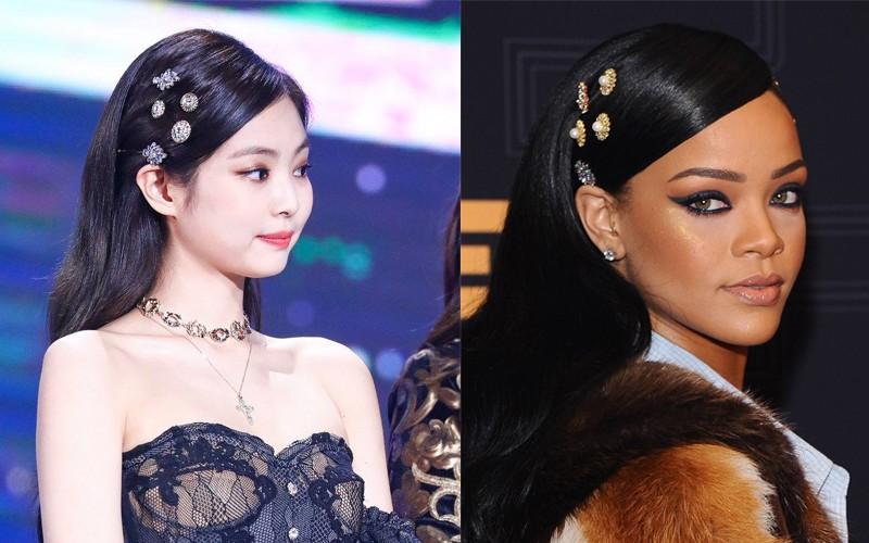Dù chẳng liên quan nhưng thi thoảng, style của Jennie và Rihanna cũng có chút tương đồng nhẹ - Ảnh 2.