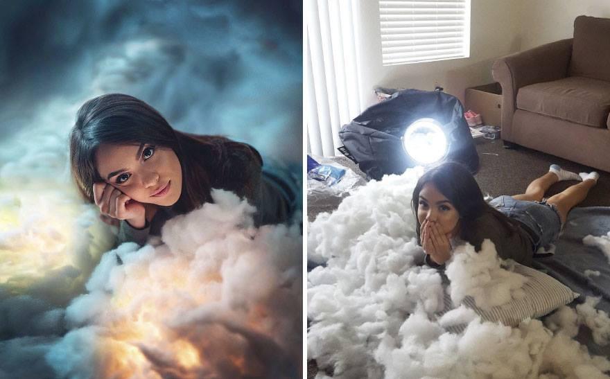 Lại có thêm thánh Photoshop giáng trần: Chụp bạn gái vịt bầu hóa thiên nga trong một nốt nhạc - Ảnh 2.