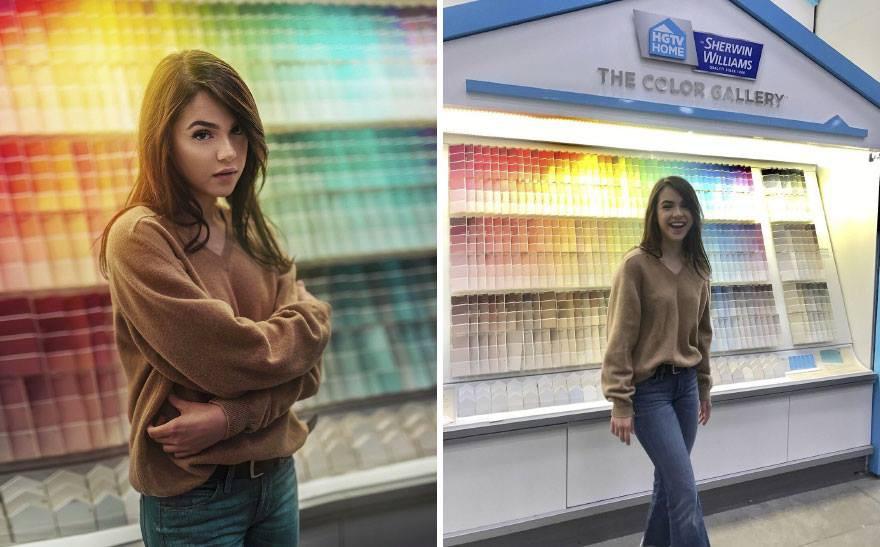 Lại có thêm thánh Photoshop giáng trần: Chụp bạn gái vịt bầu hóa thiên nga trong một nốt nhạc - Ảnh 6.