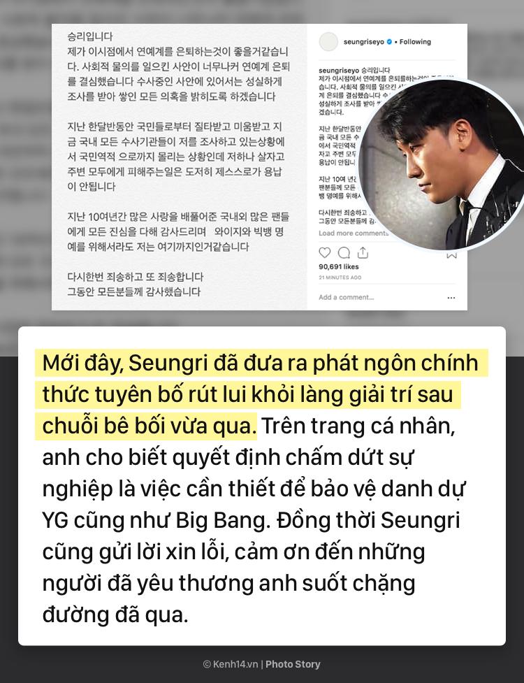 Cùng nhìn lại sự nghiệp thăng hoa của Seungri và chuỗi scandal đã khiến anh phải rút khỏi ngành giải trí - Ảnh 1.