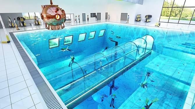 Chiêm ngưỡng hồ bơi sâu nhất thế giới thách thức mọi thợ lặn sắp mở cửa vào mùa thu năm nay - Ảnh 1.