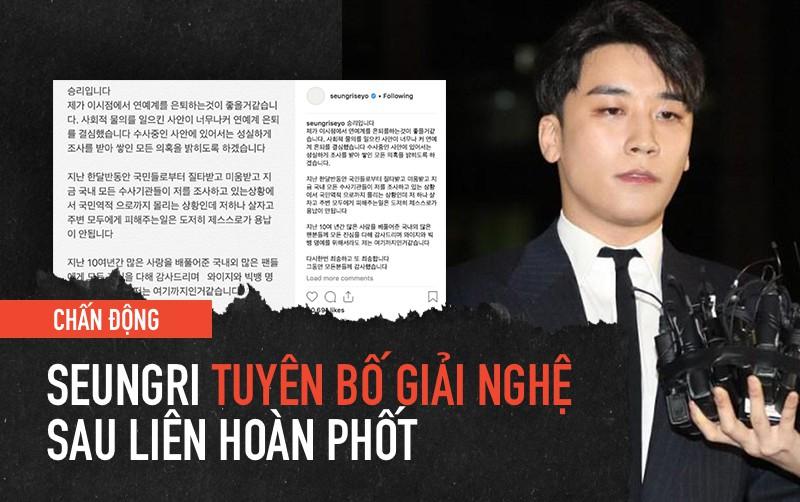 Sao Vbiz người bật khóc, người ủng hộ khi nghe tin Seungri (Big Bang) tuyên bố giải nghệ - Ảnh 1.
