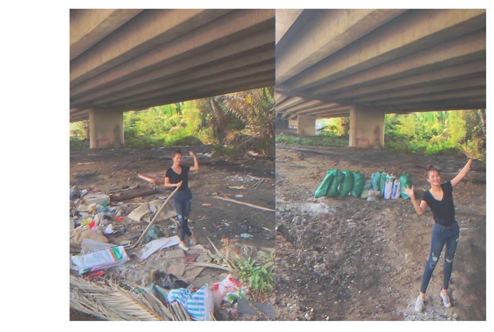 Quán quân Next Top Hương Ly tham gia thử thách dọn rác dưới chân cầu Phú Mỹ: Gia đình, bạn bè nói mình khùng và lì - Ảnh 6.