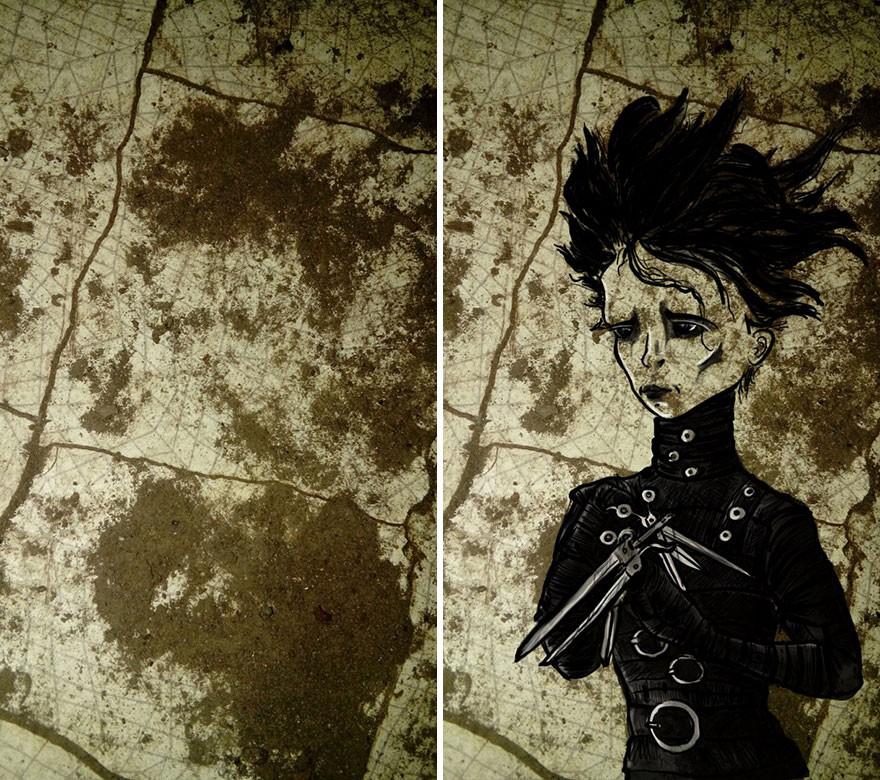 Trải qua ảo giác khuôn mặt Pareidolia ở mọi nơi, họa sĩ Nga bèn vẽ lại cho mọi người cùng xem - Ảnh 5.