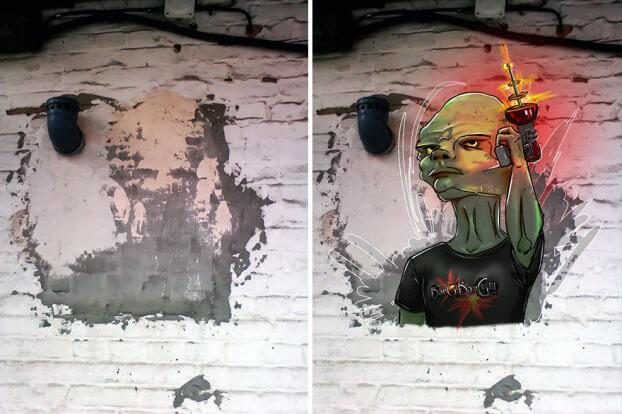 Trải qua ảo giác khuôn mặt Pareidolia ở mọi nơi, họa sĩ Nga bèn vẽ lại cho mọi người cùng xem - Ảnh 6.