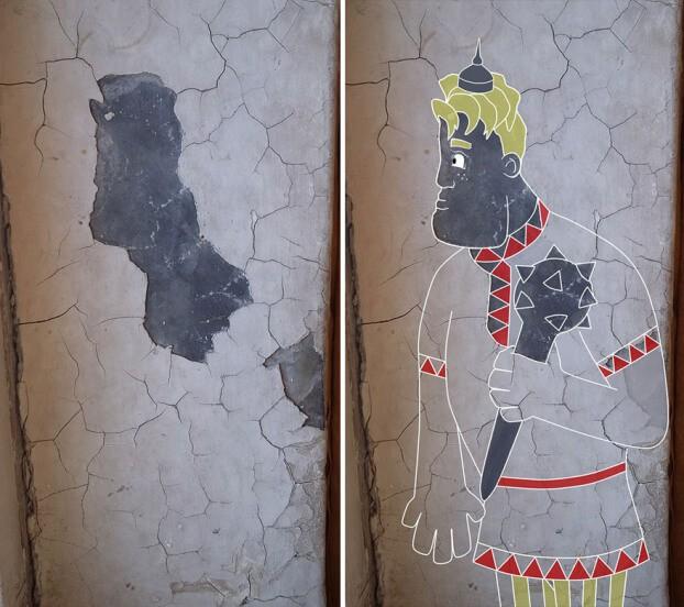 Trải qua ảo giác khuôn mặt Pareidolia ở mọi nơi, họa sĩ Nga bèn vẽ lại cho mọi người cùng xem - Ảnh 19.