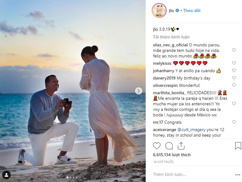 Sau khi khoe nhẫn siêu khủng, Jennifer Lopez tiếp tục gây ghen tị vì loạt ảnh cầu hôn đẹp như phim ngôn tình - Ảnh 1.