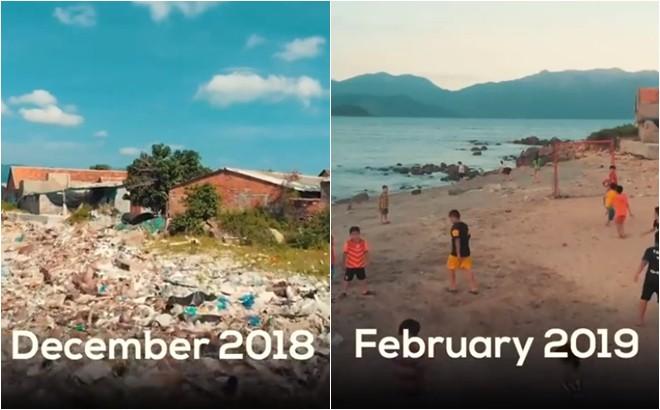 Clip về sự thay đổi của bãi biển Nha Trang nhờ nhóm bạn ngoại quốc khiến cộng đồng trầm trồ: Nơi ngập rác thành sân bóng cho trẻ em - Ảnh 9.